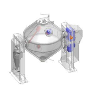Двухконусная вакуумная сушилка с вращающимся корпусом Bachiller